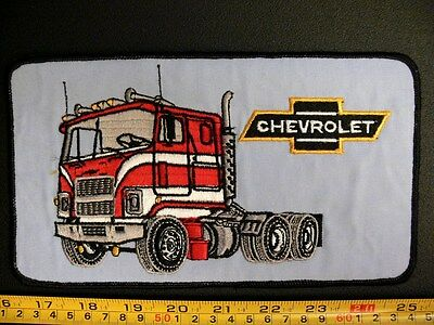 Embroidered patch CHEVROLET truck rigs trucking large back patch GENERAL MOTORS