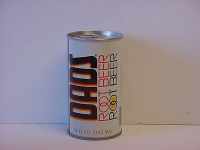 Vintage Dads Root Beer Straight Steel Pull Tab Bottom Opened Soda Can