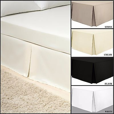 Egyptian Cotton | Percale | Pleated Base Valance Sheet | Double | King