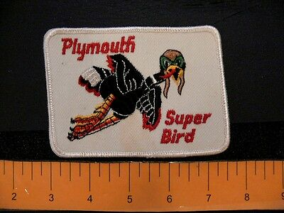 Embroidered patch PLYMOUTH SUPERBIRD vintage mopar WB COLLECTION Chrysler