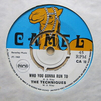"THE TECHNIQUES Hi There / Who You Gonna Run To UK 7"" Camel CA10 1969 Ex"