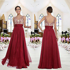 Womens Party Ball Prom Gown Formal Bridesmaid's Lady Cocktail Long Evening Dress