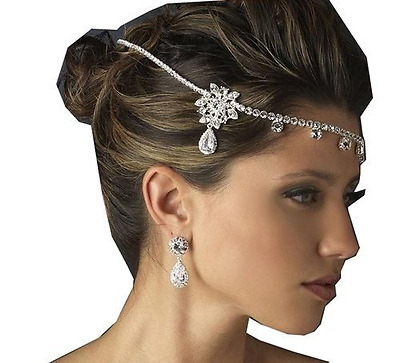 Wedding Crown Crystal Rhinestone Headdress Necklace Classic Jewelry , Party Jewe