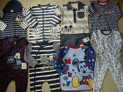 *AMAZING*35x NEW BUNDLE OUTFITS MICKEY SUMMER WINTER BABY BOY 0/3/6 MTHS(3NR1035