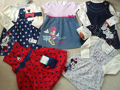 **amazing**new Bundle Outfits Minnie Summer Winter Baby Girl 9/12 Mths(3.5)Nr139