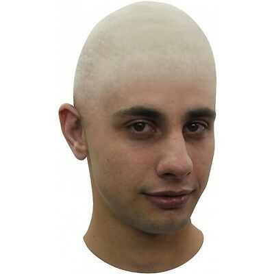 Bald Head Cap Prosthetic Latex Stretchy Fit  Adult Fancy Dress