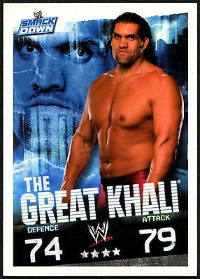 The Great Khali 2009 WWE Slam Attax Evolution Wrestling TCG Card (C378)