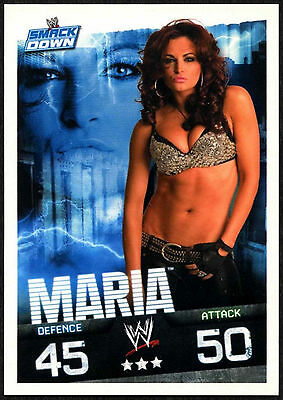 Maria 2009 WWE Slam Attax Evolution Wrestling TCG Card (C378)