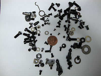 Very Rare Mixe lot Sewing machine Repair tiny very Small Black Screws and washer
