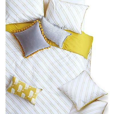 The Jay St. Block Print Company Evans Cotton Printed Pillow Sham Yellow Euro
