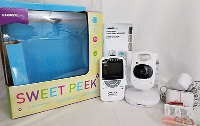 Sweet Peak Baby Monitor Portable Sound Color Video Lullibies Night Light 2.4""