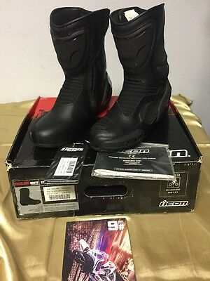 Icon CE Overlord Boots Size 9.5 Stealth Black  3403-0588