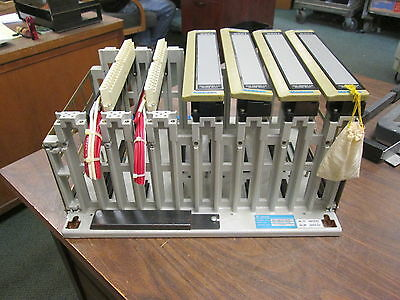 Gould Model AS-H819-209 PLC Rack AS-9534-002 7-Slot Used