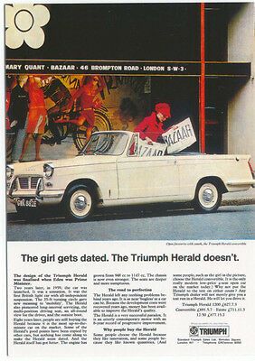Triumph Herald Convertible MODERN postcard issued by Vintage Ad Gallery