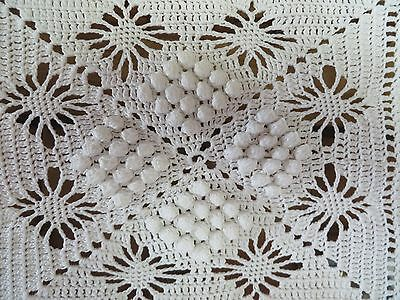 Charming Vintage French Hand Worked Crochet Lace Panel  ~ Country Home