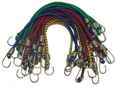 "40 PC Mini Bungee Cords Tie Down 3/16"" x 10"""