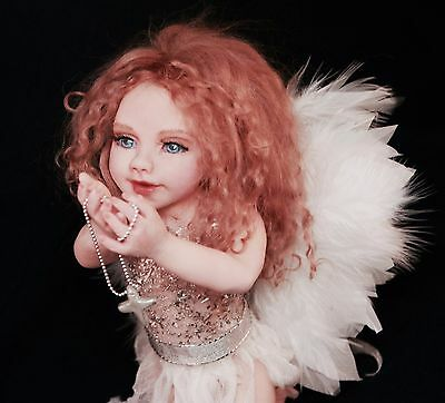Guardian Baby Angel. Polymer clay OOAK art doll by ALMA Artistry. MADE to ORDER