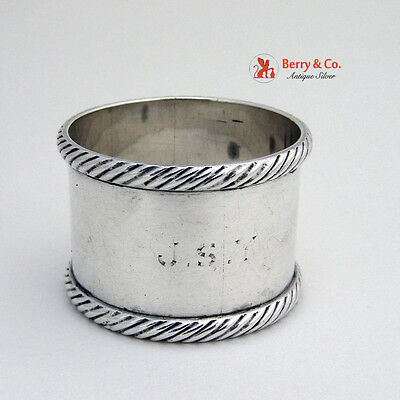 Rope Border Napkin Ring Sterling Silver 1930