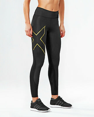 NEW 2XU MCS Bonded MidRise Comp Tights Womens Compression & Base Layers