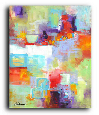 OriGiNaL PAINTING Colorful Abstract Art Modern Contemporary Large Canvas Art