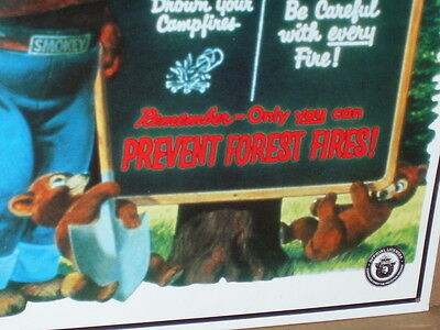 SMOKEY THE BEAR being a Teacher - With Tips To Prevent FOREST FIRE -  Great Sign