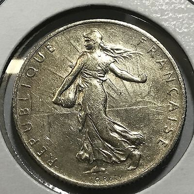 1914 France Silver Two Francs  High Grade Beauty
