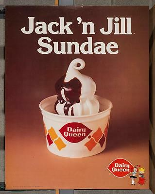 Vintage Dairy Queen Poster Dennis The Menace Margaret Jack 'n Jill Sundae dq2