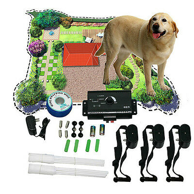 No-Wire/Wire Underground Waterproof Shock Collar Electric Fence System 1 2 3 Dog