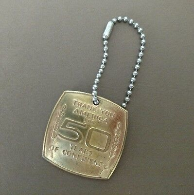 Vintage CHEVROLET 50 Years Commemorative Keychain Token CHEVY 1961