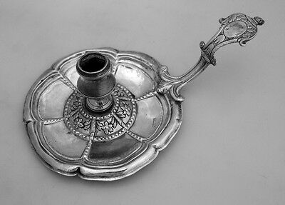 Late 16th Early 17th Century Chamberstick Spanish Colonial Silver