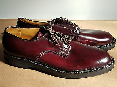 VTG Mens 60s Taylor Made Shell Cordovan Plain Toe Shoes 10.5B USA Deadstock NOS