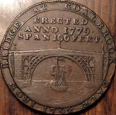Gb United Kingdom 1792 Shropshire Coalbrook Dale Halfpenny Token Magnificent !!