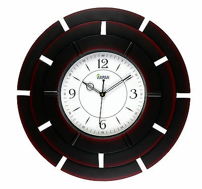 Decorative 41cm Round Wall Clock For Kitchen/Living Room,Bedroom  - Dark Brown
