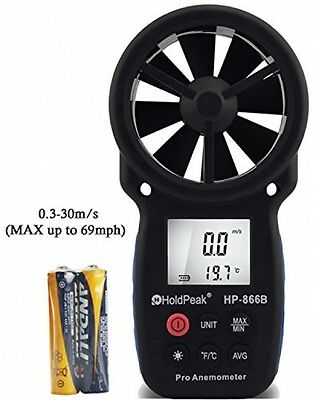 HOLDPEAK 866B Digital Anemometer ? THE BEST Wind Speed Meter Measures Wind +