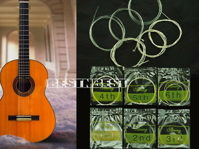 6Pcs Set 1-6 Nylon Strings linky Classic Guitar Acoustic 1 Meter Lot 2018