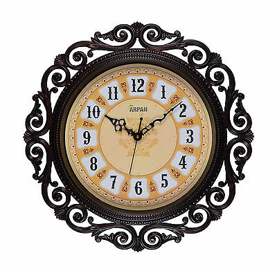 Wall Clock,15.5'' Vintage Clock for Home/Kitchen Decoration - Dark Brown