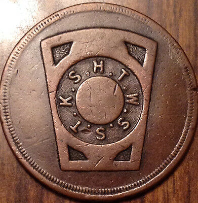 Mason One Penny Token No Chapter Daless K.s.h.t.w.s.s.t