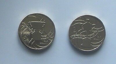 2012 Australian Tennis Open -  2 X $1 Unc Mint Coin -Not Issued For Circulation