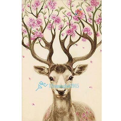 5D Diamond Sika Deer Mosaic Embroidery Paint Cross Stitch Craft Home Decor New!