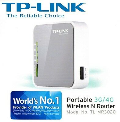NEW TP-LINK TL-MR3020 Portable 3G 4G USB Modem Wireless WiFi Router Access point