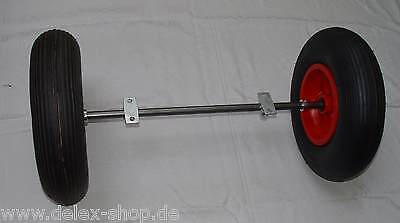 Axle / Wheel set 20mm for Feed cart with Bike 400mm Air wheel 1200 mm long