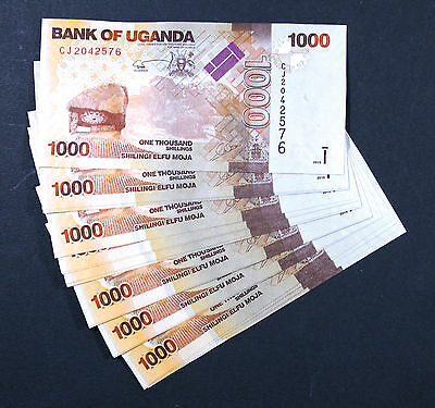 UGANDA - 1000 SHILLINGS 2015 - Set of 25 Banknotes Notes - P 49c P49c (UNC)