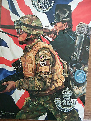 Military Postcard-The Rifles-Setting The Standard By Christa Hook