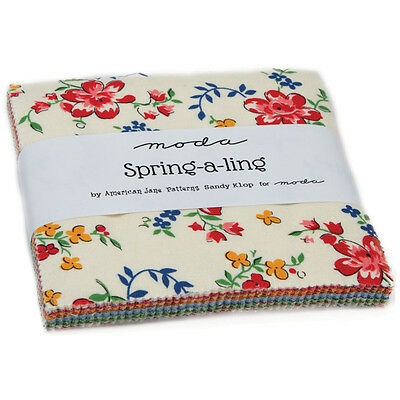 Patchwork/quilting Fabric Moda Charm Squares/packs Spring-A-Ling