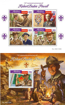Maldives Sir Robert Baden-Powell Boy Scouts Scoutism Personalities MNH stamp set