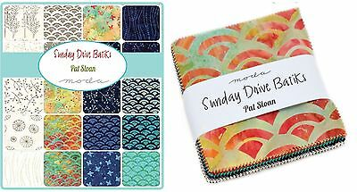 Patchwork/quilting Fabric Moda Charm Squares/packs Sunday Drive Batiks