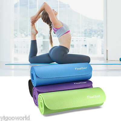 10/15mm Yoga Mat Thick Exercise Fitness Physio Pilates Beach Gym Mats Non Slip