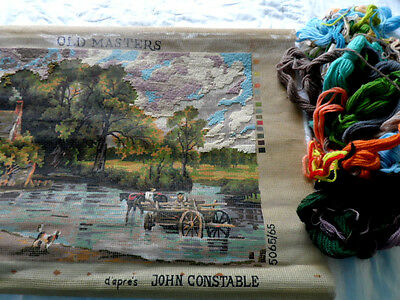 Vintag twilleys Tapestry Kit The Haywain Partly completed with some wools