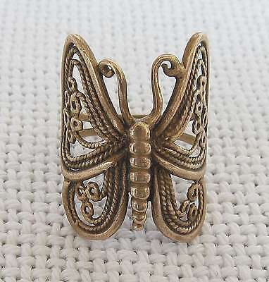 Victorian Pinchbeck Butterfly Ring Size 7 Hand Crafted