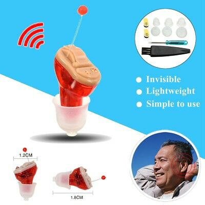 Mini Adjustable Hearing Aid Cic Invisible Small Sound Voice Amplifier Enhancer